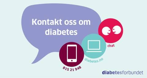 Bilde av Diabeteslinjen infokort